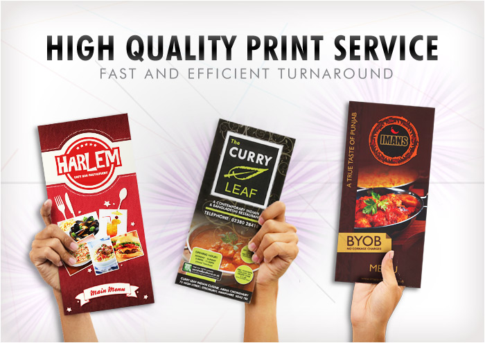 high quality menu print service