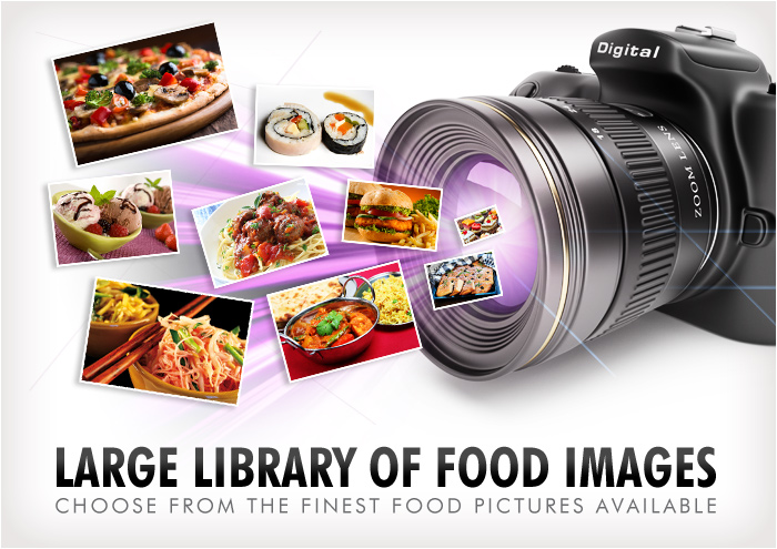 large library of food images