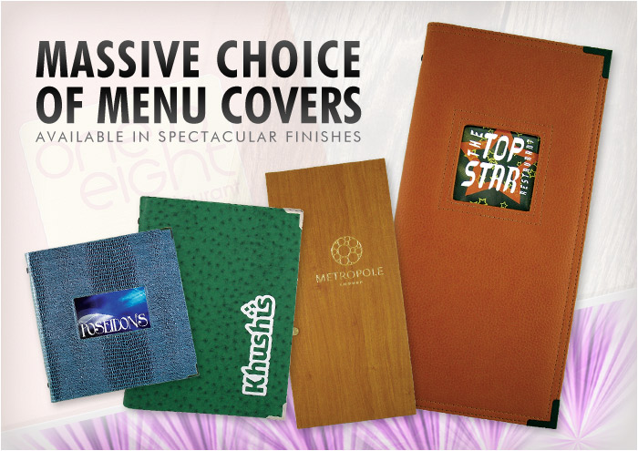 takeaway restaurant menu covers