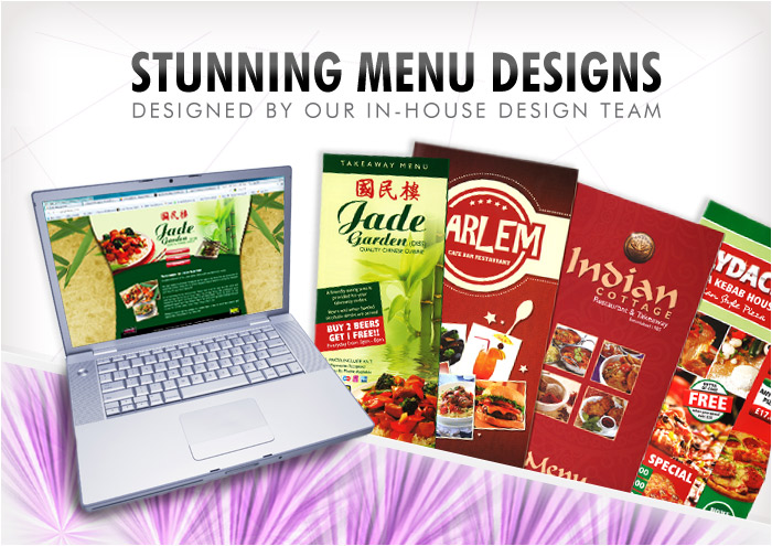 takeaway restaurant menu designs