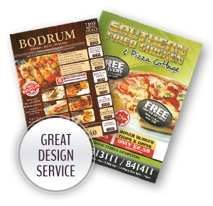 Great Design Services - B4 Takeaway Menus