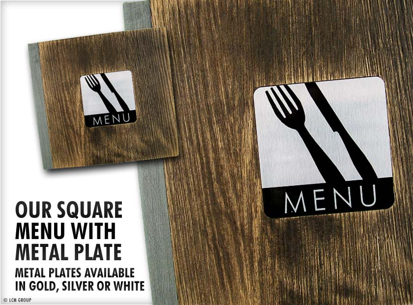 Wooden Menu Covers - Menu Printing UK