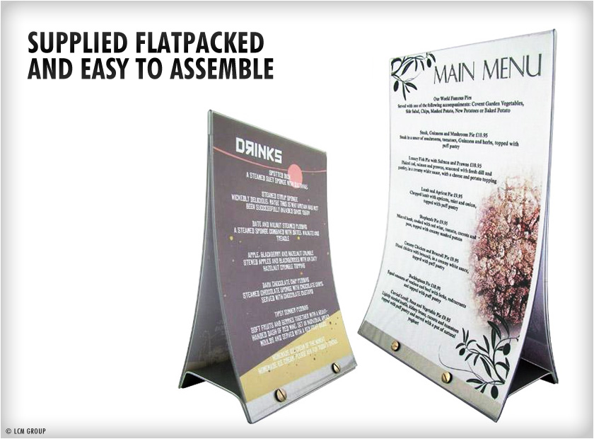Table top menus orbit restaurants menu printing uk for Table menu restaurant